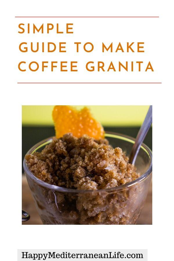 coffee granita recipe pin