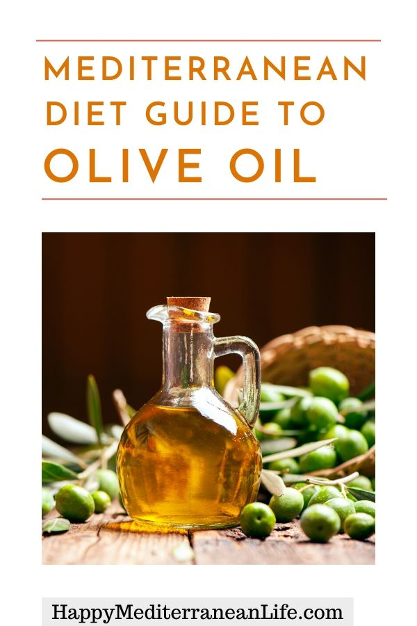 Mediterranean Diet guide to olive oil pin