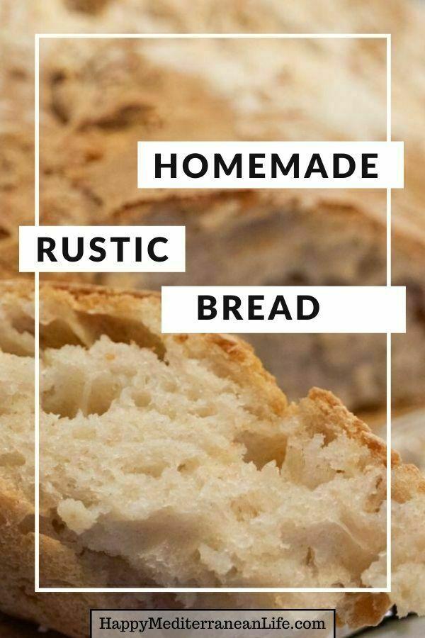 homemade rustic bread pin