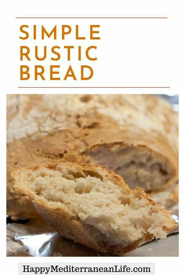 simple rustic bread pin