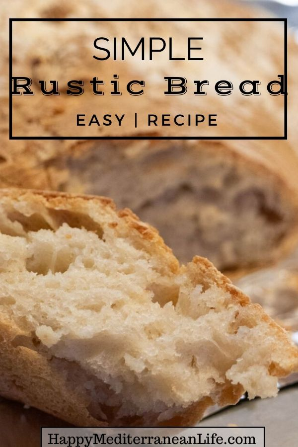 simple rustic bread recipe pin