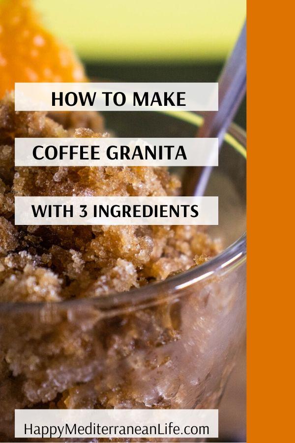coffee granita with 3 ingredients pin