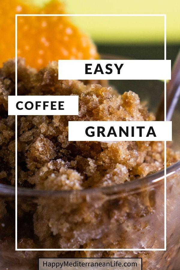 easy coffee granita pin
