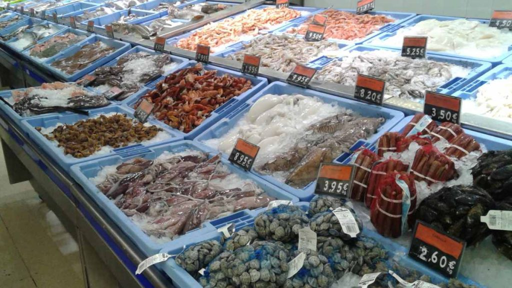 grocery shipping for seafood in Spain