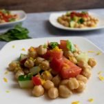 healthy chickpea salad recipe with mint